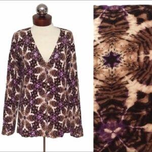 🆕 ALBERTO MAKALI $248 zip Cardigan Sequin  NWT